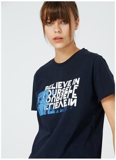 Fabrika Fabrika Kadın Lacivert Baskılı T-Shirt Lacivert